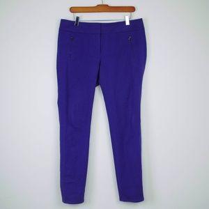 LOFT Marisa Fit Pants Ankle Length Purple